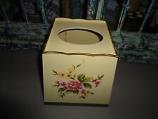 WAVERLY FLORAL MANOR CREAM PINK IVORY (1PC)  TISSUE BOX COVER
