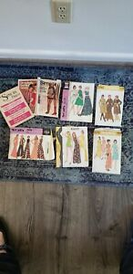 Lot Of 1970s sewing Patterns McCall's Simplicity Pants, Dress Sz 14 36 Bust