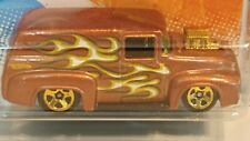HOT WHEELS HEAT FLEET '11~~ '56 FORD F-100~~ BROWN VARIATION w/GOLD 5 SPOKES