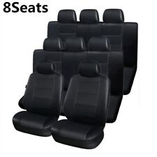 3Row 8Seats Car Seat Covers Protector Leather Luxury Top Quality for Minivan SUV