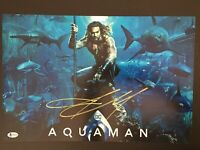 Signed JASON MOMOA 12x18 Photo AQUAMAN Autograph with BAS BECKETT COA psa jsa