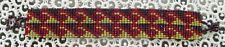 "NEW~Southwestern Hand Woven Glass Seed Bead Bracelet 1"" Wide ~NEW ~ Item #T1102"