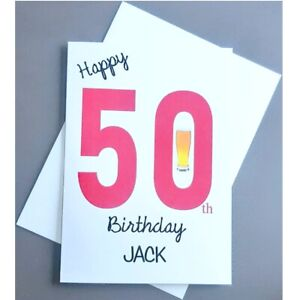 Personalised 50th Birthday Card Male - 50 Years Old - Husband Dad Friend Son