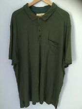 Tommy Bahama Island Modern Fit Polo Golf Shirt 70/30 Silk Cotton Blend Green XXL