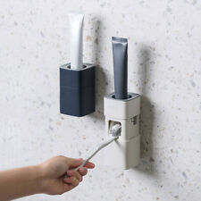 1Pcs Automatic Toothpaste Dispenser Bathroom Wall Mount Stand Holder Squeezer