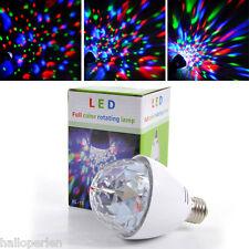 LED Revolving Light Multicolour Ball Light Bulb RGB KTV Ceiling Lights White