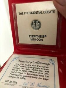 1976 Limited Edition to Commemorate the Presidential Debate Platinum 1.3 grams