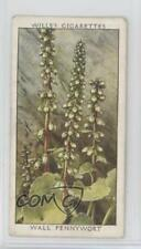 1937 Wills Wild Flowers Series 2 Tobacco Base #18 Wall Pennywort Card 1i3