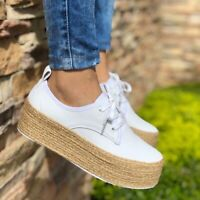 Women Creepers Platform Shoes  Lace Up Thick Soles Chunky Pump New Arrival