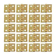 20pcs Mini DIY Small Metal Hinges for 1/12 Dollhouse Miniature Furniture