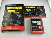 Atari 2600 Mountain King CIB Complete - Game, Box, Manual Tested Working