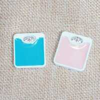 Dollhouse Weighing Scale 1:12 Miniature Weight Balance Home Decor Blue/Pink