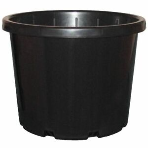 5 x 330mm BLACK ROUND FLOWER BUCKET w HOLES 18-LITRE HYDROPONIC POT 18L PLANT