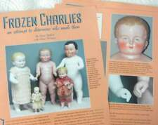 16p History Article + Pics  - Antique Frozen Charlie Charlotte Doll & Makers