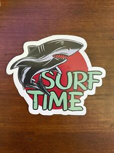 Surf Time Shark Beach Vintage Waterproof - Buy Any 4 for $1.75 Each Storewide
