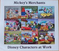 DISNEY- MICKEY'S MERCHANTS - 9 STAMP MINT SHEET.