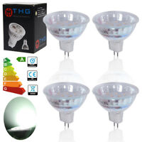 Pack of 4x Bright MR16 3W LED SMD Bulbs Lamp DC12V GU 5.3 Downlight Daylight UK