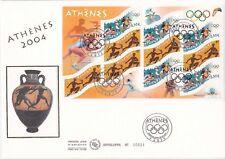 Enveloppe grand format 1er jour 2004 Jeux Olympiques d'été Athènes