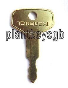 TAKEUCHI EXCAVATOR KEY - FREE UK POST!