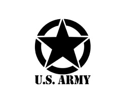 Us Army Invasion Star Military Vinyl Decal Sticker Jeep Hummer Truck Wrangler