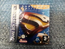 SUPERMAN RETURNS LA FORTEZZA DELLA SOLITUDINE GAMEBOY ADVANCE NUOVO
