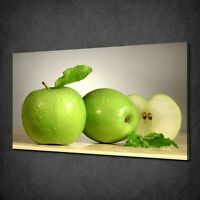 GREEN APPLES CANVAS PICTURE PRINT WALL HANGING ART HOME DECOR FREE DELIVERY
