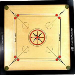 Large Traditional Carrom Board Game Size 83cm x 83cm With Striker and Coins