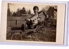 Real Photo Postcard RPPC - Boy and Pedal Car