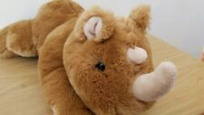 "Dan Dee Brown Baby Rhinoceros Plush 15"" Rhino Tan"