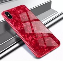 iPhone XS MAX Luxury Tempered Glass Back Case, Cover in Red