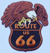 Route 66 EAGLE EMROIDERED JACKET VEST IRON ON BIKER PATCH