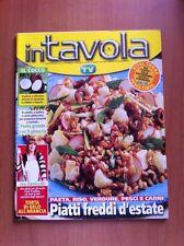 Rivista IN TAVOLA - SORRISI E CANZONI TV - N. 95 Agosto 2006 Ricette con foto
