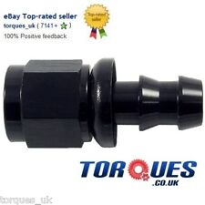 AN -8 (AN8) STRAIGHT Push-On Fuel Hose Fitting Black