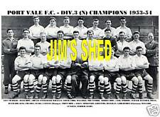 PORT VALE F.C.TEAM PRINT 1953-54 (DIV.3 NORTH CHAMPS)