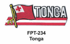 """1-1/2'' X 4-1/2"""" TONGA Flag Embroidered Patch"""