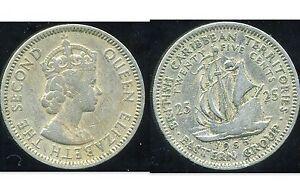 est CARAIBES 25 cents  1955   ( bis )