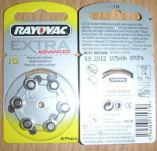 PILE ACOUSTIC SPECIAL RAYOVAC A10