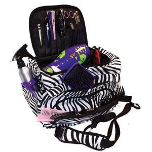HAIR TOOLS  HAIRDRESSING ZEBRA TOOL CASE/BEAUTY BAG