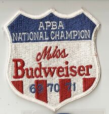 1969-70-71 Miss Budweiser Apba National Champion Embroidered Patch