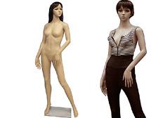Plastic Female Mannequin Manikin Manequin Display Dress Form #PS-G4