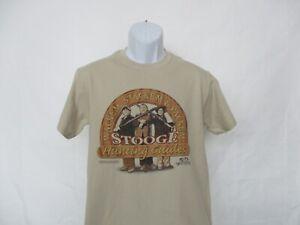 Three Stooges Wackem, Stackem & Packem Hunting Tan T-Shirt - Men's Sizes S - 2XL