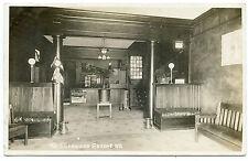 RPPC NY Greene Interior of The Sherwood (Hotel) Chenango County