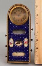 Antique Early 20thC Swiss Made French Desk Clock & Calendar . No Reserve!
