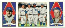 MLB - BASEBALL - SINGLE TRADING CARD - NY YANKEES - BABE RUTH + MICKEY MANTLE