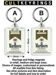 Cigarette keyring / fridge magnet - Marlboro JPS Embassy Camel Rothman Silk Cut