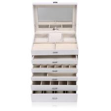Portagioie Scatole per Gioielli Custodia Custodia box Con Specchio e 5 cassetti