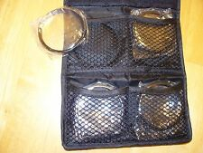 Polaroid Close Up Filter set 58mm +1, +2, +4, +10 with case