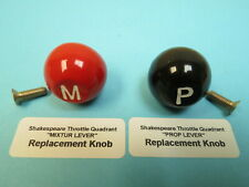 Wwii Aircraft Shakespeare Throttle Quadrant Replacement Knobs At-6 Bt13 Stearman