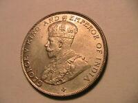 1920 Straits Settlements 50 Cent CH BU British Empire Malaya Malacca Silver Coin