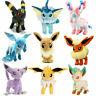 POP Pokemon 9 *Sets Center Evolution of Eevee Umbreon Espeon Sylveon Plush Toys